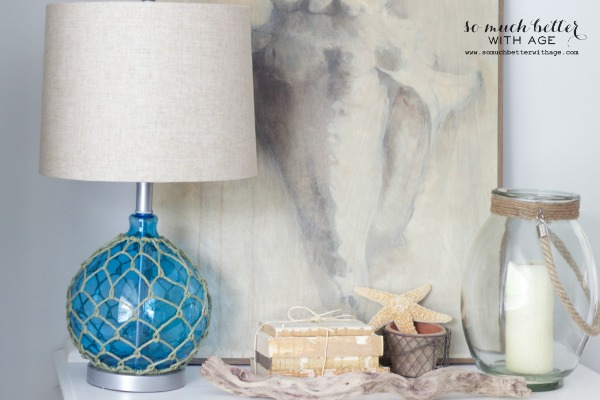 Coastal lamp / Getting beachy with Kirkland's via somuchbetterwithage.com