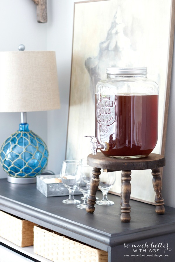Beverage station / Getting beachy with Kirkland's via somuchbetterwithage.com