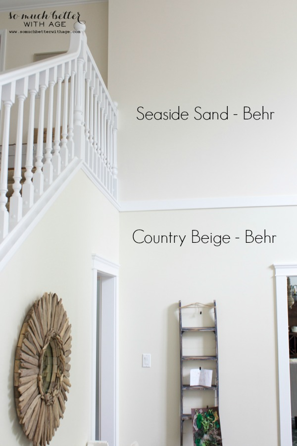 Neutral foyer before after so much better with age for Behr neutral beige paint colors