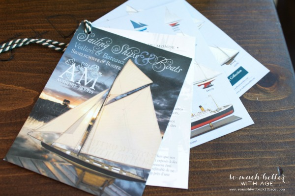 Sailboat magazines on coffee table.