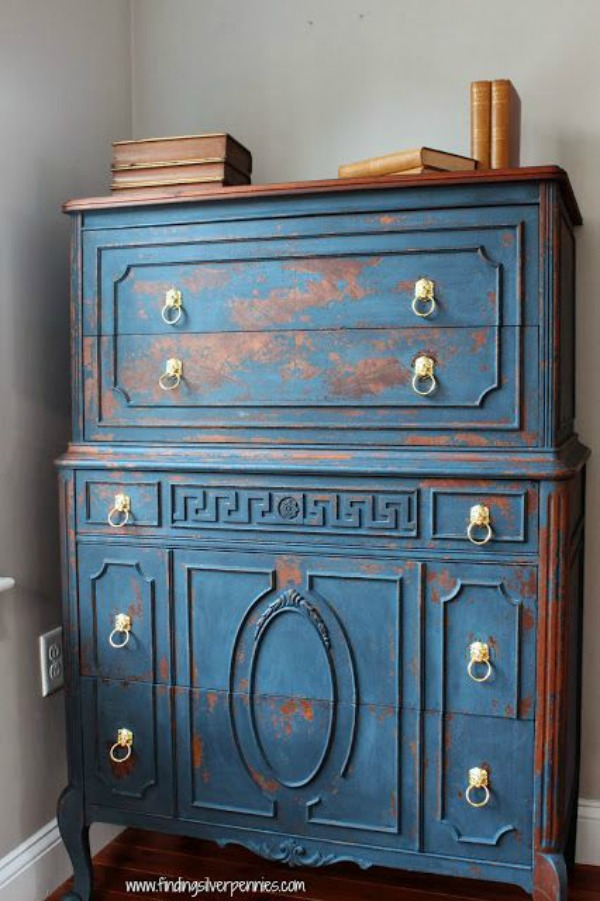 10 heavily distressed chippy furniture pieces / Finding Silver Pennies - So Much Better With Age