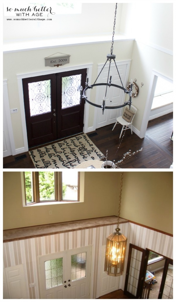 Neutral foyer before and after / pictures of foyer - So Much Better With Age