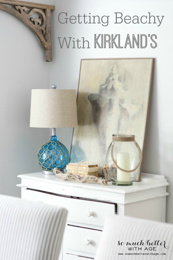 Getting beachy with Kirkland's via somuchbetterwithage.com