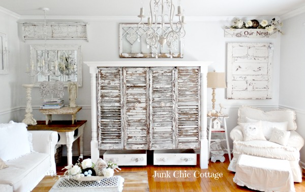 10 heavily distressed chippy furniture pieces / Junk Chic Cottage - So Much Better With Age