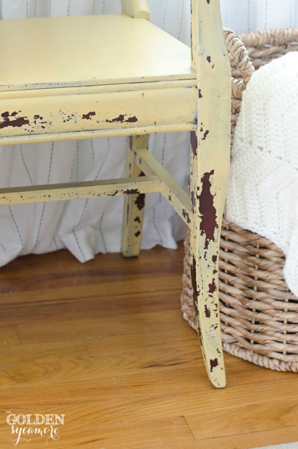 10 heavily distressed chippy furniture pieces / Golden Sycamore - So Much Better With Age