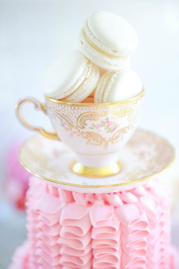 Tracey Ayton photo / teacup with macarons - So Much Better With Age