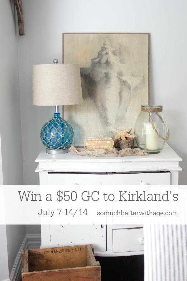 Win $50 gift card to Kirkland's via somuchbetterwithage.com