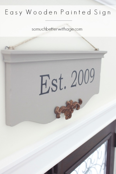 Easy Wooden Painted Sign Using My Silhouette