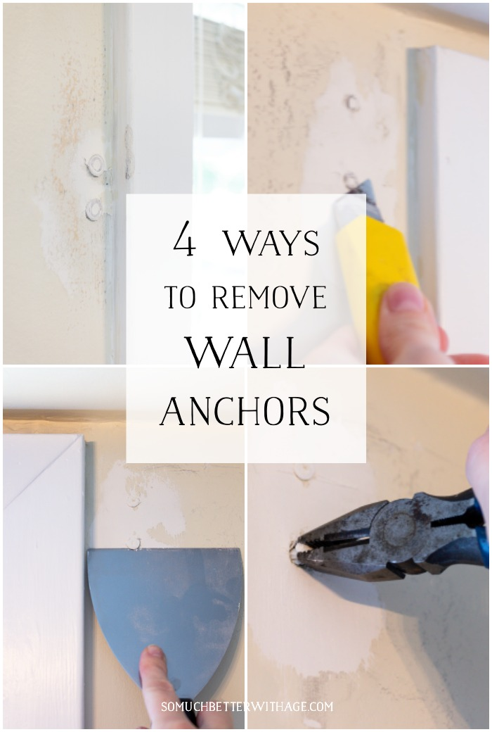 4 Ways to Remove Wall Anchors graphic - So Much Better With Age