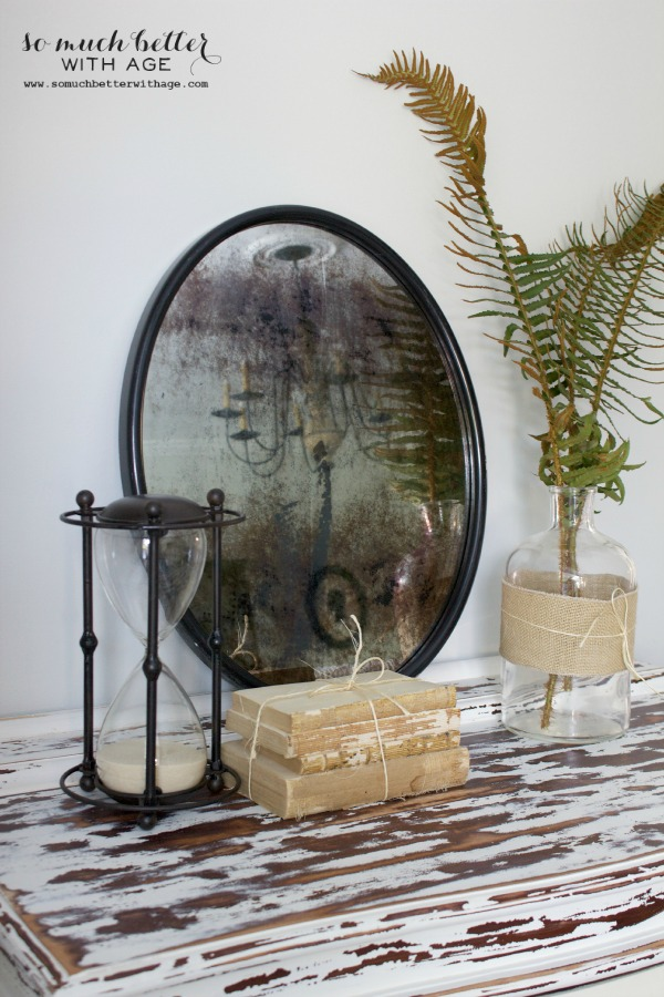 DIY / How to antique a mirror via somuchbetterwithage.com