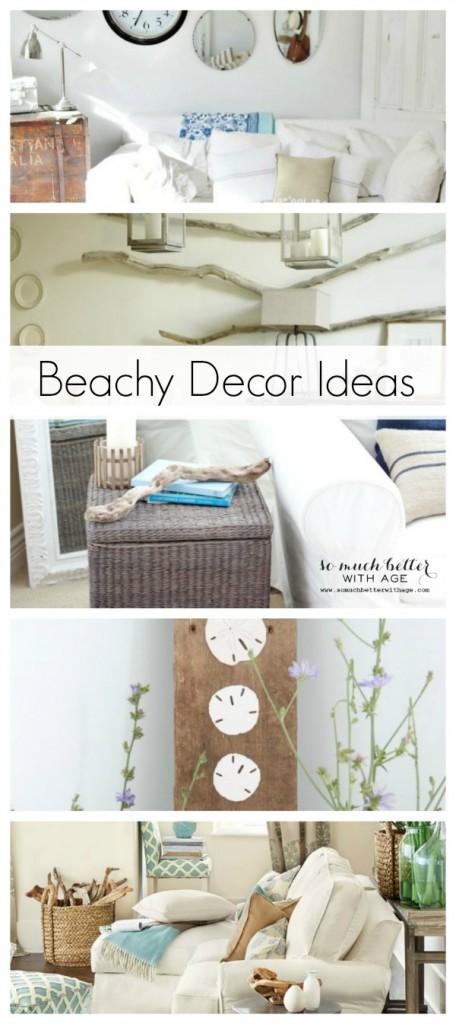 Beachy Decor Ideas | somuchbetterwithage.com
