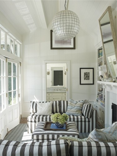 Beachy Decor Ideas / striped couches - So Much Better With Age