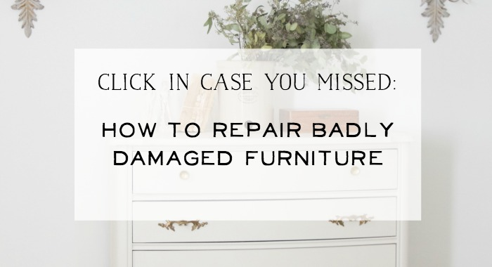 How to Repair Badly Damaged Furniture