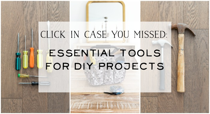 Essential tools For DIY Projects poster.