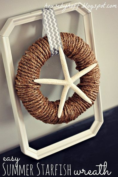 20 gorgeous summer wreaths / rope and starfish wreath - So Much Better With Age