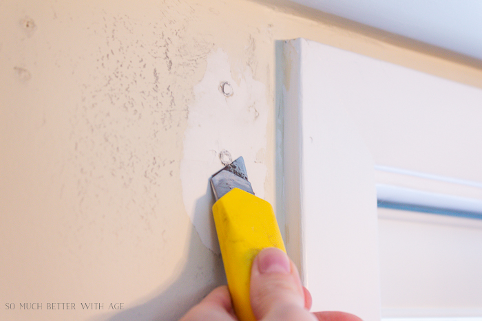 4 Ways to Remove Wall Anchors/utility knife - So Much Better With Age