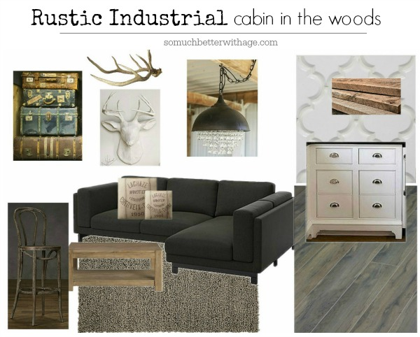Rustic Industrial cabin in the woods | somuchbetterwithage.com