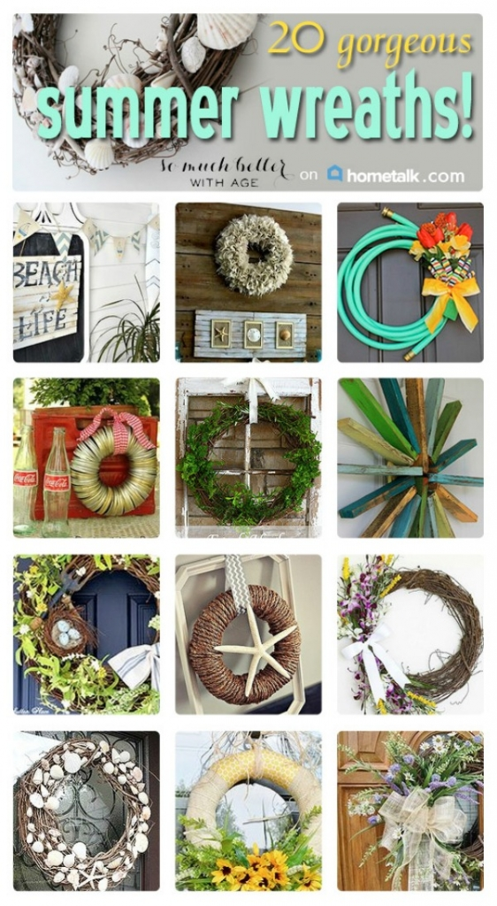 Gorgeous summer wreaths - So Much Better With Age