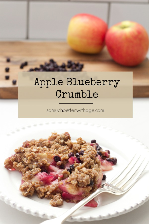 Apple Blueberry Crumble | somuchbetterwithage.com