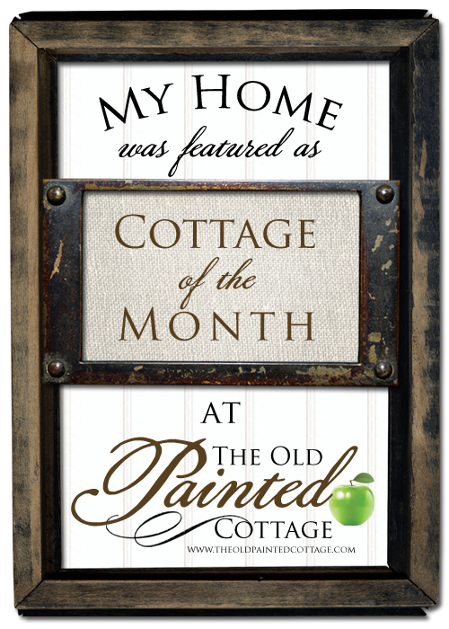 My home was featured as cottage of the month | somuchbetterwithage.com