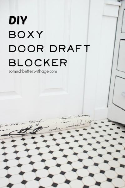 DIY Boxy Door Draft (or Light) Blocker