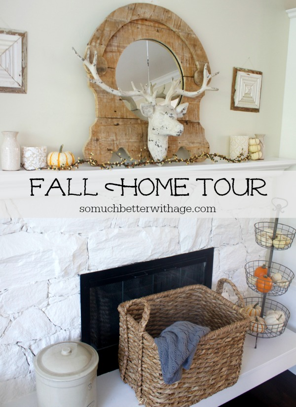 Fall Home Tour by somuchbetterwithage.com