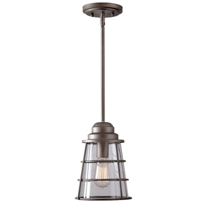 Industrial lighting for the cabin in the woods | somuchbetterwithage.com