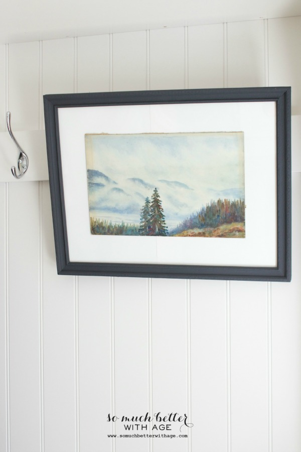 Update old artwork / picture hanging in rustic cabin - So Much Better With Age