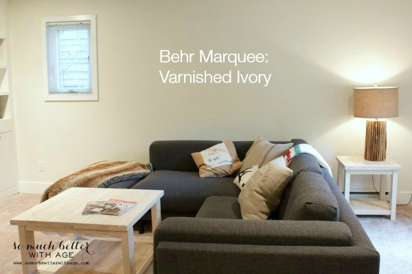 Behr Marquee Varnished Ivory paint.