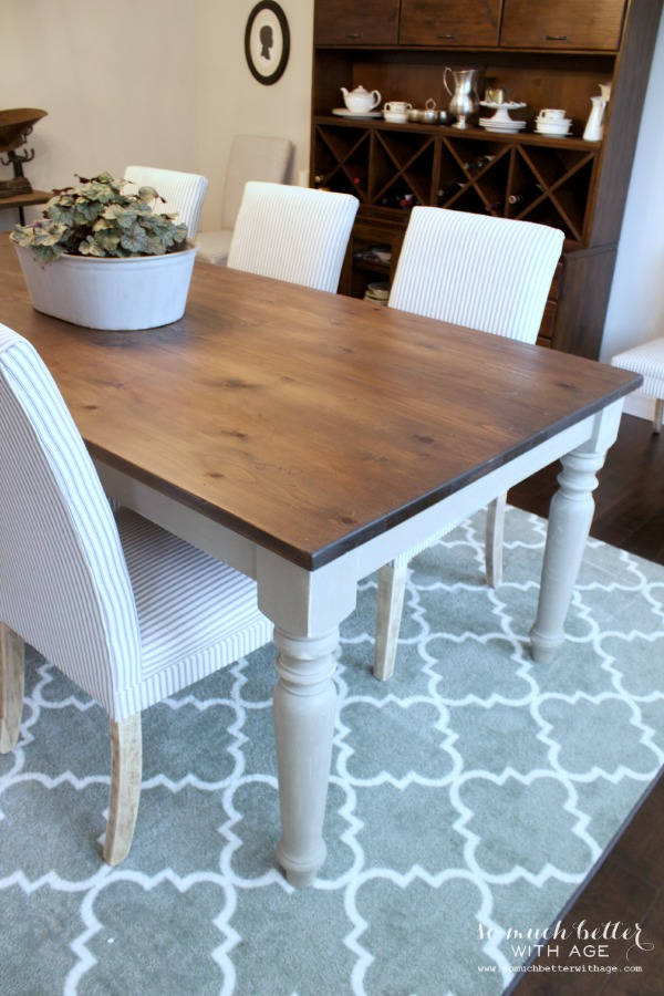 Rustic dining chairs / chairs that brighten up the room - So Much Better With Age
