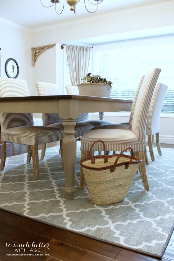 Rustic dining chairs / chairs on rug - So Much Better With Age