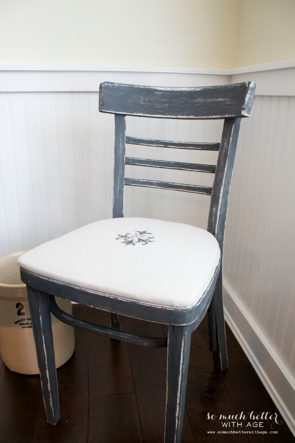 Drop cloth upholstered chair by somuchbetterwithage.com