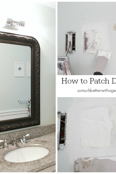 How to Patch Drywall + Home Decor Techniques That Fool the Eye