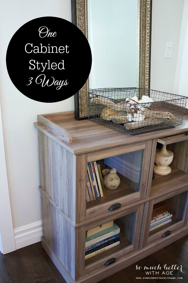 One Cabinet Styled Three Ways