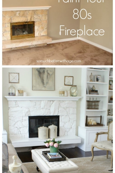 Paint Your 80s Fireplace
