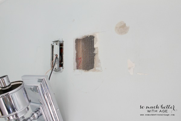 How to patch drywall and home decor techniques that fool the eye / attaching patchwork - So Much Better With Age