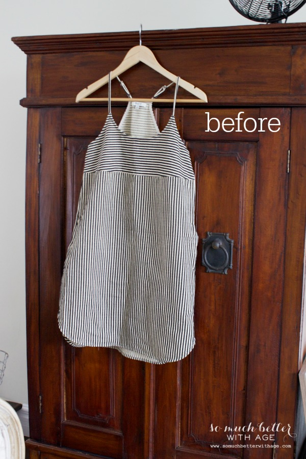 Easy Halloween Pillow / shrunken dress hanging on dresser - So Much Better With Age