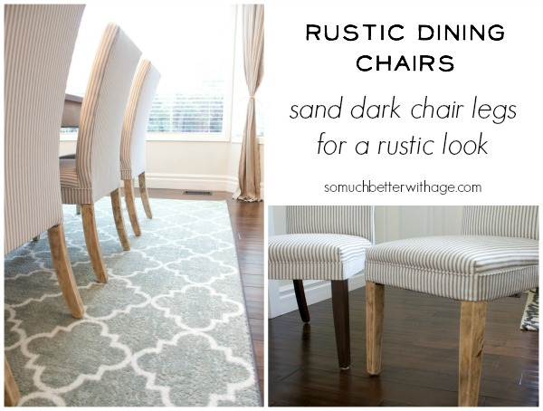 Rustic dining chairs / updated chairs in dining room - So Much Better With Age