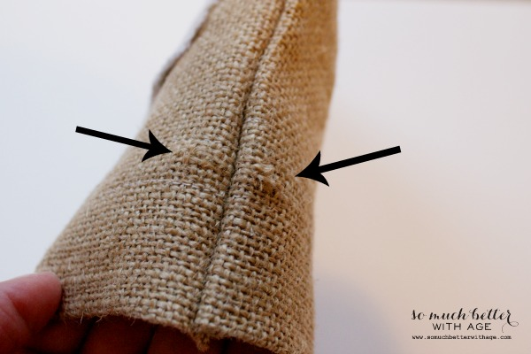 Sew your own burlap bag by somuchbetterwithage.com