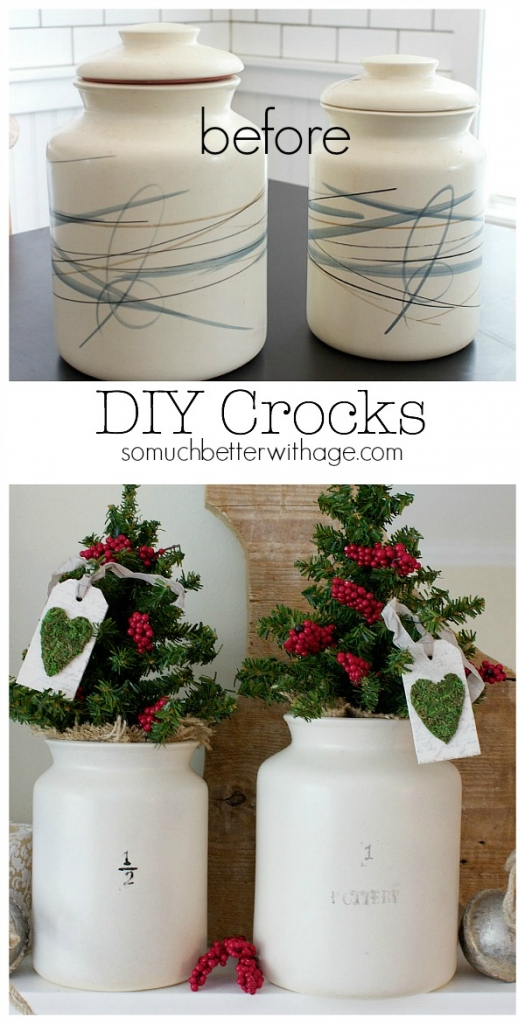 DIY crocks before and after - So Much Better With Age
