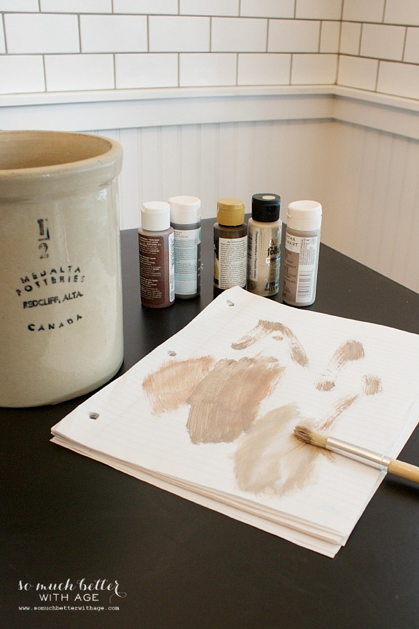 DIY crock painting | somuchbetterwithage.com