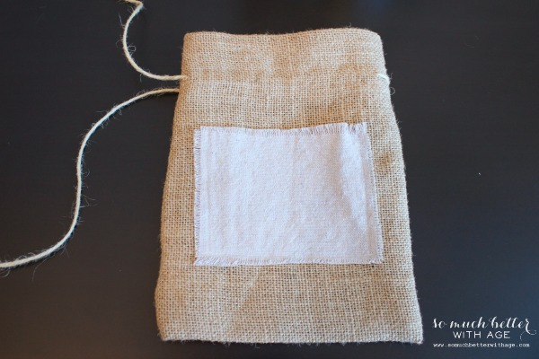 DIY burlap & cloth gift bag / the twine and burlap - So Much Better With Age