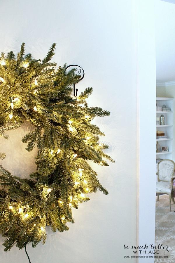 Fraser Fir Balsam Hill wreath | somuchbetterwithage.com