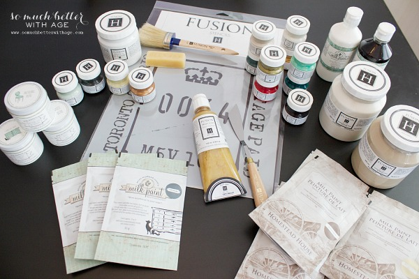 Fusion Mineral Paint and Stencils | somuchbetterwithage.com