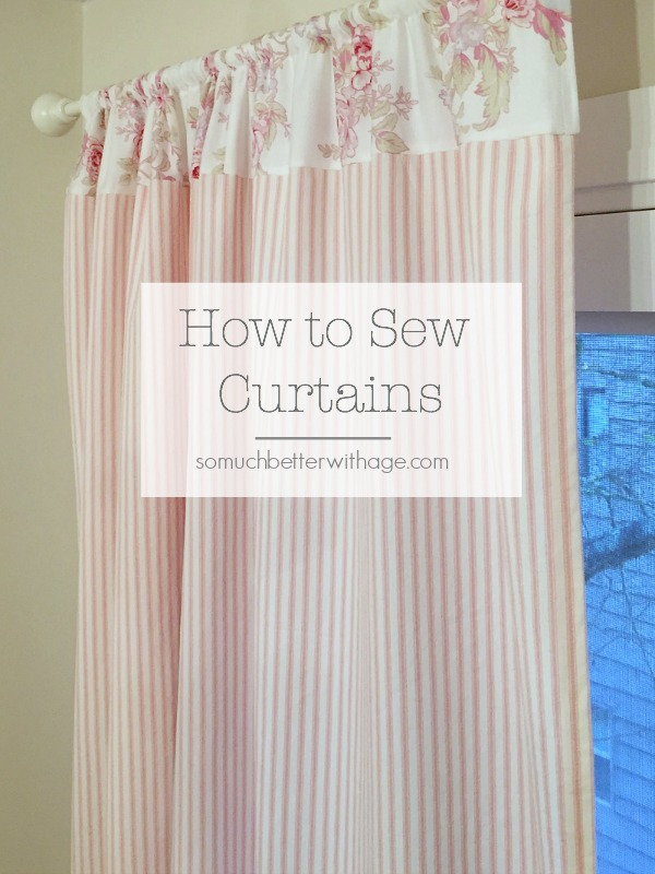 How To Sew Curtains - pretty pink curtains - So Much Better With Age
