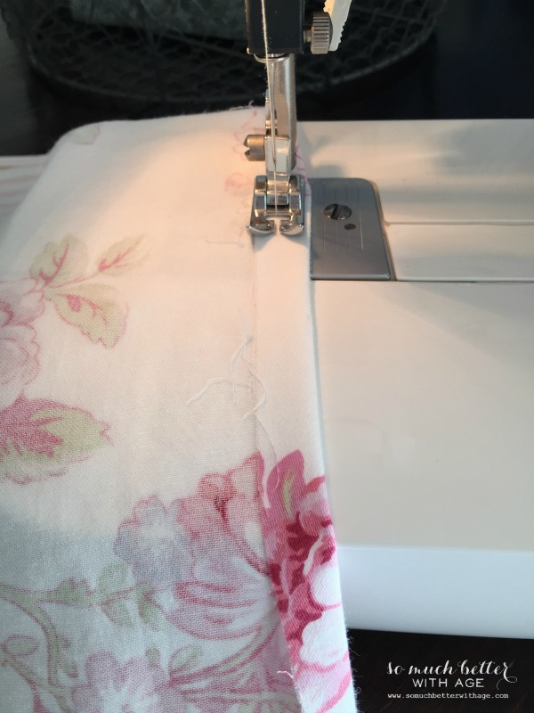 How To Sew Curtains / stitching the curtains - So Much Better With Age