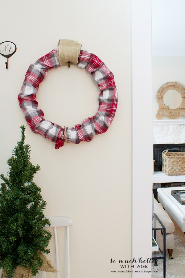 Plaid PJs to Christmas wreath / wreath hanging on wall - So Much Better With Age