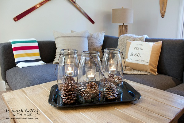 Rustic finds from Kirkland's / Glass lanterns from Kirkland's - So Much Better With Age