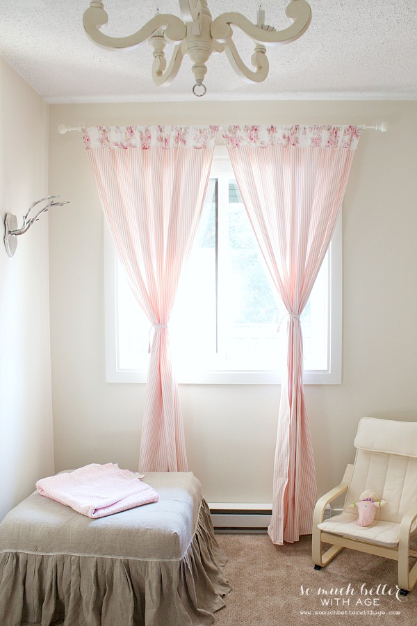 How To Sew Curtains / pretty curtains hanging in room - So Much Better With Age