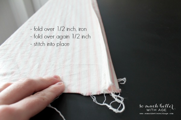How To Sew Curtains / folding the curtain before sewing - So Much Better With Age